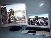Продам ноутбук +  монитор